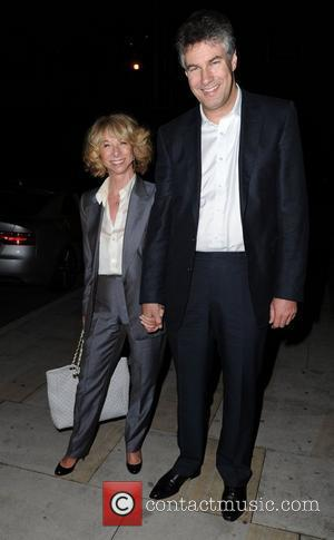 Helen Worth and Guest arrive for Jack P. Shepherd and Lauren Shippey's engagement party at Great John Street Hotel in...