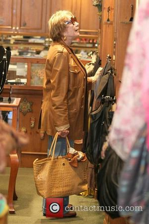 Shirley MacLaine shopping at Victorian Rose boutique in Beverly Hills Los Angeles, California - 27.05.11