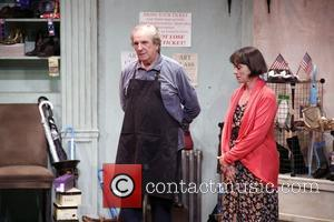 Danny Aiello and Alma Cuervo  Opening night of the Off-Broadway production of 'The Shoemaker' at the Acorn Theatre -...