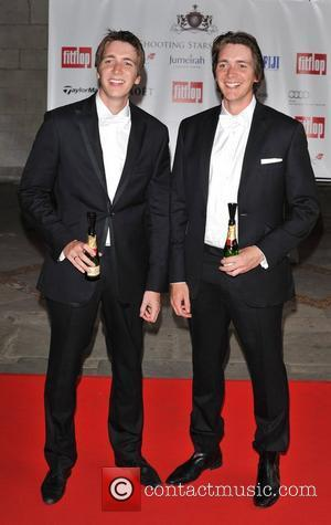 James Phelps and Oliver Phelps Shooting Stars Benefit - closing ball held at the Royal Courts of Justice - Arrivals...