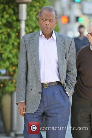 Sidney Poitier  is seen leaving E baldi restaurant in Beverly Hills after having lunch with a friend. Los Angeles,...