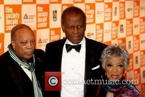 Quincy Jones, Sidney Poitier, and Ruby Dee Celebrities attend the Lincoln Center Film Society's 2011 Chaplin Award Gala Honoring Sidney...