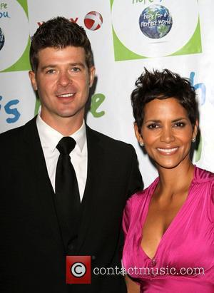 Robin Thicke and Halle Berry