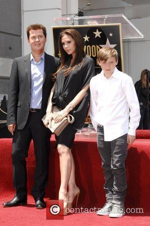 Simon Fuller, Brooklyn and Victoria Beckham