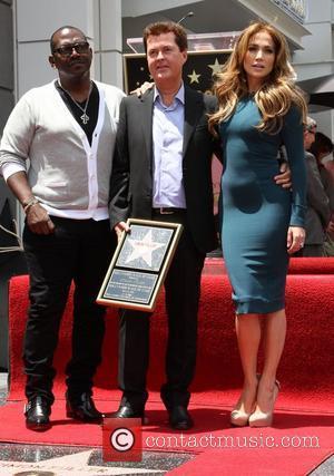 Randy Jackson, Jennifer Lopez and Simon Fuller