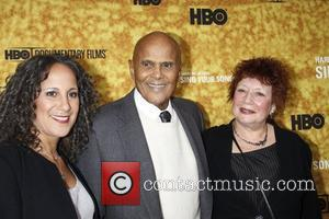Gina Belafonte, Harry Belafonte and Susanne Rostock  Premiere of the HBO documentary 'Harry Belafonte Sing Your Song' at the...