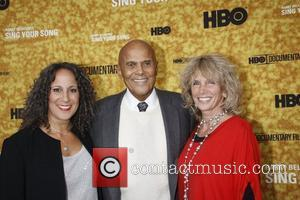 Gina Belafonte, Harry Belafonte and Pamela Frank Premiere of the HBO documentary 'Harry Belafonte Sing Your Song' at the Apollo...