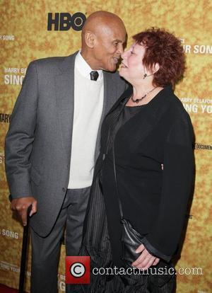 Harry Belafonte and Susanne Rostock Premiere of the HBO documentary 'Harry Belafonte Sing Your Song' at the Apollo Theater -...