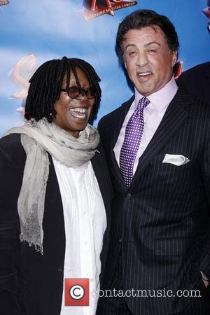 Whoopi Goldberg and Sylvester Stallone