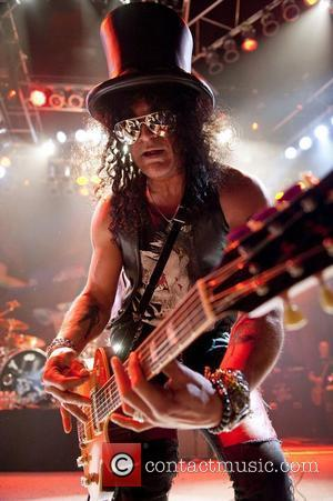 Slash performs live in concert at the House of Blues. Chicago. Illinois - 13.02.11