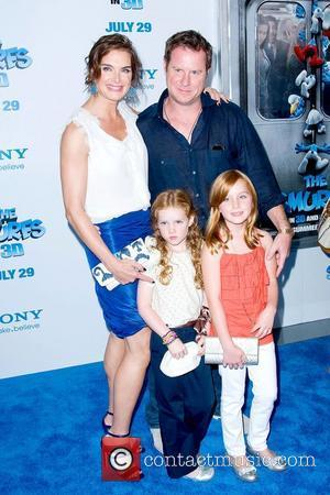 Brooke Shields and Chris Henchy,  'The Smurfs' world premiere at the Ziegfeld Theater - Arrivals New York City, USA...