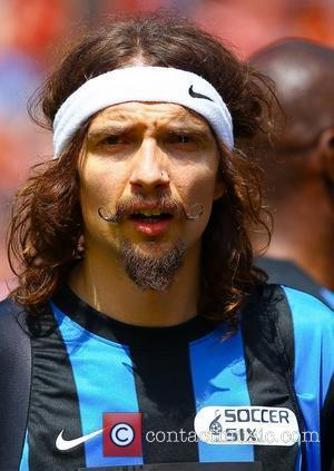 Justin Hawkins from The Darkness  The Celebrity Soccer Six tournament held at The Valley, home to Charlton Athletic FC...