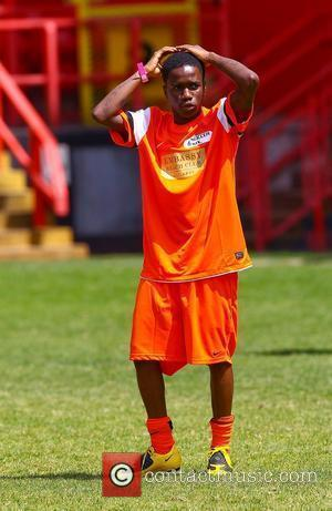 Tinchy Stryder  The Celebrity Soccer Six tournament held at The Valley, home to Charlton Athletic FC London, England -...