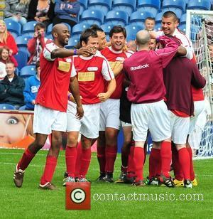 James Argent 'arg', Mark Wright The Celebrity Soccer Six tournament held at Turf Moor stadium Burnley, England - 05.06.11