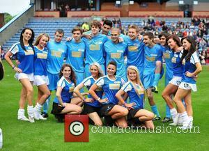 The Wanted The Celebrity Soccer Six tournament held at Turf Moor stadium Burnley, England - 05.06.11