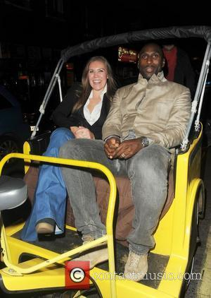 Sol Campbell and his wife Fiona Barrett leaving Box Club London, England - 10.11.11