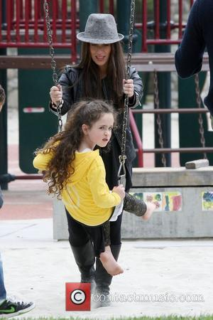 Soleil Moon Frye and her daughter Poet Sienna Rose Goldberg  spend an afternoon at Coldwater Canyon Park Los Angeles,...
