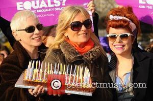 Annie Lennox, Gaby Roslin and Paloma Faith