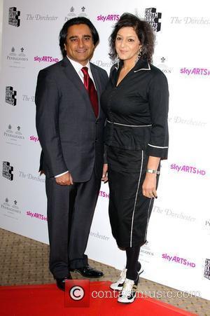 Sanjeev Bhaskar and Meera Syal 'South Bank Sky Arts Awards' held at the Dorchester Hotel - Arrivals  London, England...