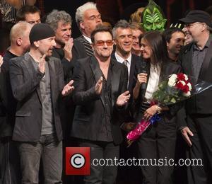 The Edge, Bono, Julie Taymor 'Spider-Man: Turn Off The Dark' Broadway Opening Curtain Call New York City, USA - 14.06.11