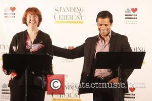 Harriet Harris and Mark Consuelos Meet and greet with the cast and playwrights of 'Standing on Ceremony: The Gay Marriage...
