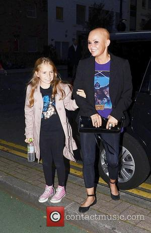 Gail Porter and daughter  Star Wars Blu-Ray - launch party at BT Tower - Outside departures  London, England...
