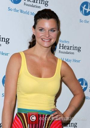 Heather Tom Primetime and daytime stars join The Starkey Hearing Foundation in Las Vegas to deliver the 'GIFT OF HEARING'...