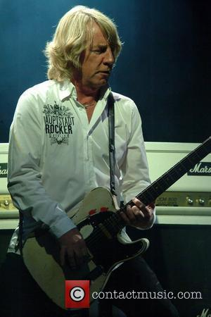 Rick Parfitt Status Quo perform live at the Old Royal Naval Collage as part of the Greenwich Summer Sessions London,...