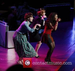 Anika Noni Rose, Christina Hendricks and Chryssie Whitehead Closing night of the New York Philharmonic production of 'Stephen Sondheim's Company'...