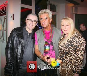 Holly Johnson, Steve Strange and Wendy Tiger celebrities attend the 52nd birthday party at Mare Moto on Kings Road London,...
