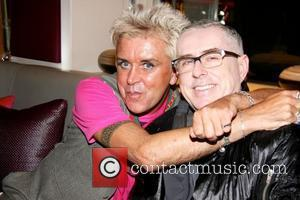 Steve Strange and Holly Johnson  celebrities attend the 52nd birthday party at Mare Moto on Kings Road London, England...