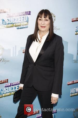 Anjelica Huston Opening Night of the Broadway musical production of 'How To Succeed In Business Without Really Trying' at the...