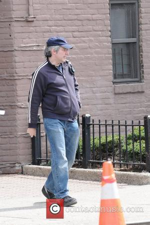 Paul Weitz on the set of his new film 'Another Bullshit Night in Suck City' shooting on location in Queens...