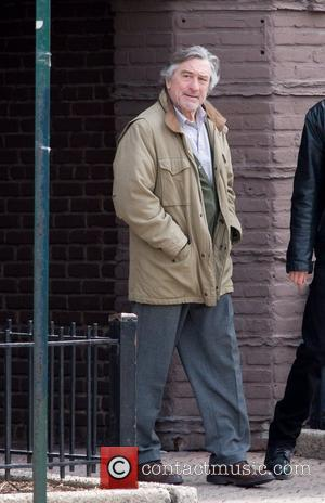 Robert De Niro on the set of his new film 'Another Bullshit Night in Suck City' shooting on location in...