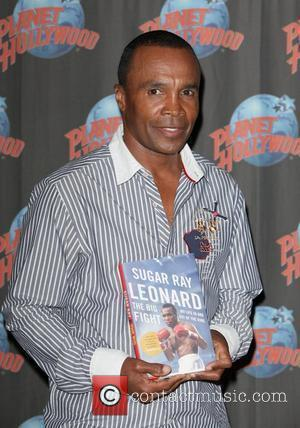 Sugar Ray Leonard visits Planet Hollywood Times Square promoting his autobiography 'The Big Fight My Life In and Out Of...