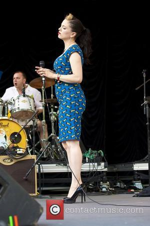 Imelda May performs on stage at the Summerstage in Central Park New York City, USA - 27.07.11