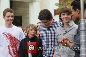Gabriel Basso, Joel Courtney, Mario Lopez, Riley Griffiths and Ryan Lee