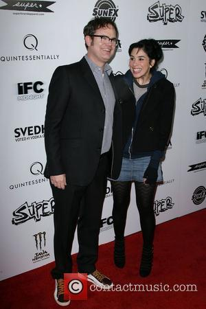 Rainn Wilson and Sarah Silverman