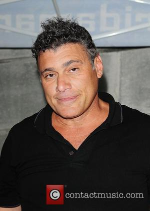 Steven Bauer attends and sign autograph for fans pre-game festivities during the Florida Marlins Vs. The Washington National game Super...