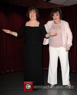 Susan Boyle attends the unveiling of her waxwork at Madame Tussauds Blackpool Blackpool, England - 19.04.11