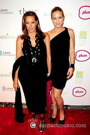 Donna Karan and Maria Bello attend the 2011 Sustainatopia Honors presented by Plum Network  Miami Beach, Florida – 04.03.11