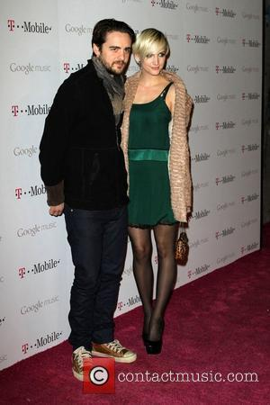 Vincent Piazza and Ashlee Simpson Celebrity Magenta Carpet Arrivals At The Launch Party For Google Music Available On T-Mobile held...