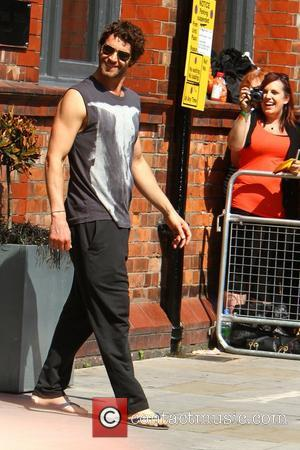 Howard Donald Member of Take That are seen departing from their hotel in Manchester Manchester, England - 04.06.11,