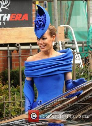 Tara Palmer-Tomkinson  leaving her home ahead of the wedding of Prince William and Catherine Middleton London, England - 29.04.11