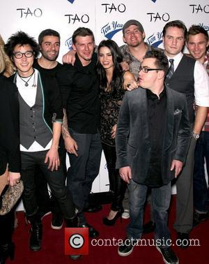 A group including cast and crew members from the film 'Ten Year'  Official Movie Wrap Party at TAO for...