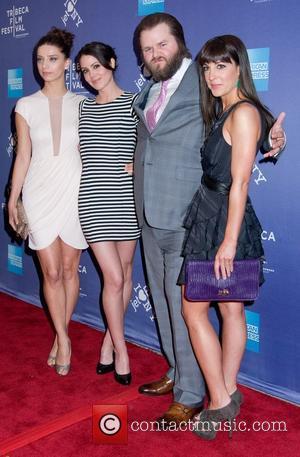 Angela Sarafyan, Lindsay Sloane and Tyler Labine
