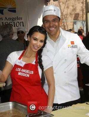 Kim Kardashian and Antonio Villaraigosa