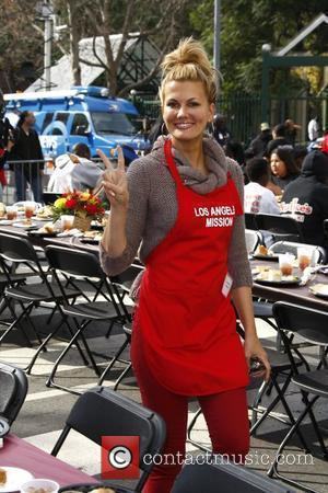 Courtney Hansen 75th anniversary of the Los Angeles Mission serving Thanksgiving dinner to the homeless, held at the Los Angeles...
