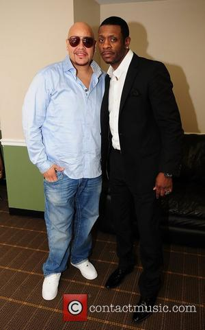 Fat Joe and Keith Sweat  backstage during Best of the '90s Concert held at James L. Knight Center...