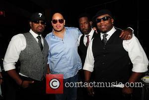 Nathan Morris, Shawn Stockman, Wanya Morris from R&B group Boyz II Men and Fat Joe  backstage during Best of...